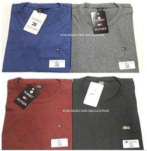 Camiseta Gola Careca Bordada Primeira Linha - 10 Peças