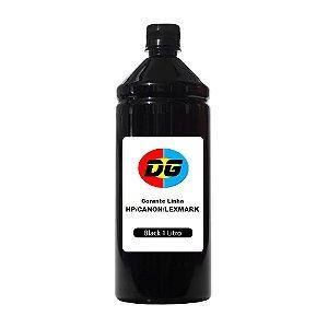 Tinta Universal Para Cartuchos Jato de Tinta Hp Corante Canon Lexmark Black 1 Litro