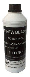 Tinta Universal Para Cartuchos Hp Canon Lexmark Black Pigmentada