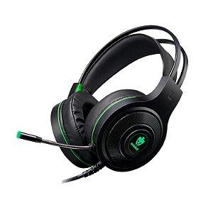 Fone Headset Gamer Evolut Têmis Eg301 Preto E Verde Luz Led