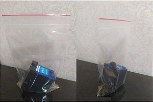Embalagem Para Cartuchos Jato de Tinta Zip PP 10 X 14 Cm 0,8 100 Unidades com Lacre