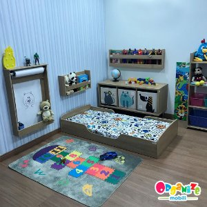 Mini cama mobili kids na cor itapuã + colchão D18