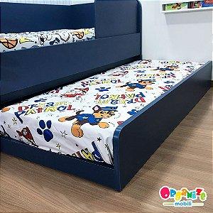 Cama auxiliar mobili kids (cama auxiliar com estrutura para cama auxiliar) - Cor azul