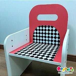 Cadeira kids com tema regulagem de altura - de 3 a 10 anos de idade - TEMA CARROS