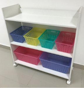 Organizador de brinquedos 3 prateleiras 4P2G-rs