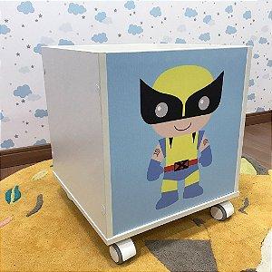 Baú organizador de brinquedos Wolverine