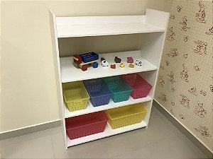 Organizador de brinquedos 4 prateleiras 4P2G RsAm