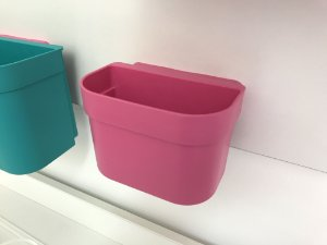 Organizador cesto de encaixe pequeno Rosa sem barra