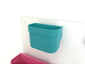 Organizador cesto de encaixe pequeno verde sem barra