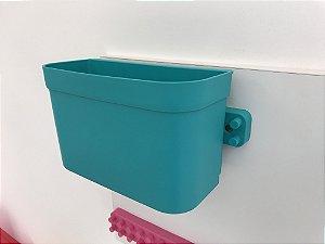 Organizador cesto de encaixe grande verde com barra
