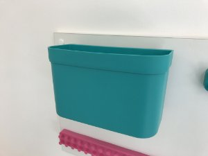 Organizador cesto de encaixe grande verde sem barra