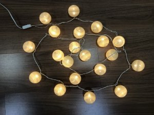 Fio de Luz LED 20 bolas amarela