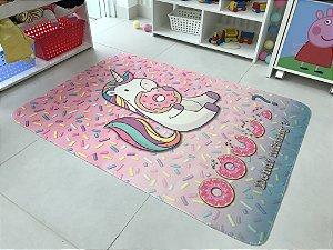 Tapete Unicórnio donut - Medida 0,95 x 1,30
