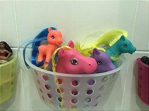 Cesto organizador de brinquedos para banheiro Neutra