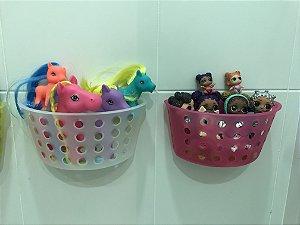 Combo banheiro 2 Cesto organizador de brinquedos para banheiro