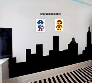 Quadro de decoração infantil kids (2 unidades)