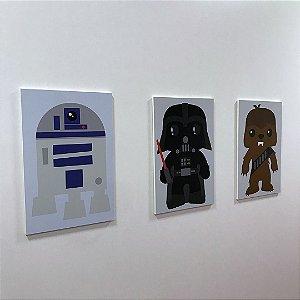 Quadro de decoração infantil KIDS (3 unidades) STAR WARS