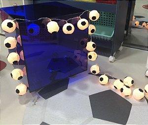 Fio de luz LED com 20 bolas - futebol