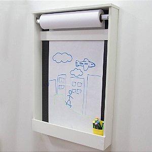 Painel Criativo Pequeno fundo blackdots com um rolo de papel - não acompanha fio de luz