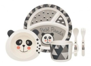 Kit alimentação kids - Panda (5 peças)