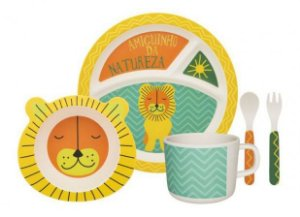 Kit alimentação kids - leão (5 peças)