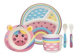 Kit alimentação kids - unicórnio (5 peças)