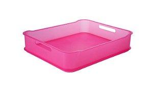 Caixa organizadora 38 x 31,6 x 8 cm rosa - não acompanha divisória