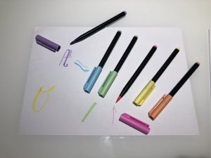 Canetinha pincel hidrocor ponta brush - pastel cx 6 unidades