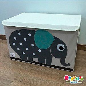 Baú organizador de brinquedos com tampa elefante -  3 Sprouts