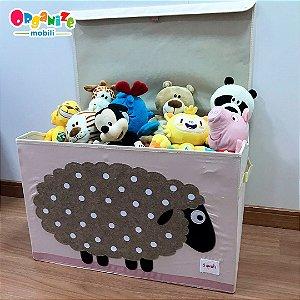 Baú organizador de brinquedos com tampa  ovelha - 3 Sprouts