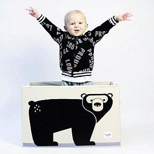 Baú organizador de brinquedos com tampa 3 Sprouts urso