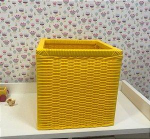 Organizador quadrado infantil em fibra sintética (vime sintético)