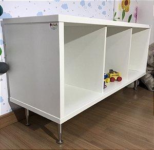 Mobili organizador infantil três nichos com pés fixos - não inclui as caixinha