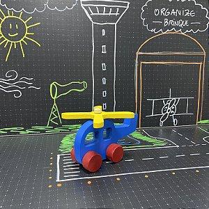 Helicóptero com rodinhas