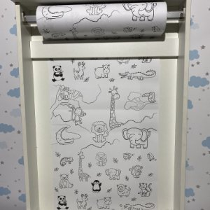 Rolo de papel  para colorir - pintando com os animais (somente rolo de papel)