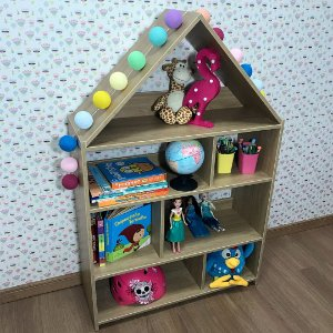 Casinha estante organizadora infantil cor itapuã