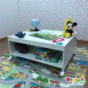 Mesa de centro infantil branca