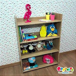Organizador de brinquedos 4 prateleiras cor Itapuã sem caixa