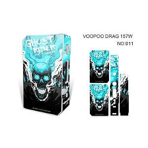 Adesivo para Voopoo Drag 157W - Ghost Rider