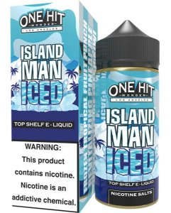 Island Man Iced 100ml - 0mg - One Hit Wonder