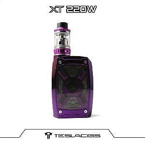 Teslacigs XT 220 W Kit Tesla XT com 2 baterias 21700 - Purple
