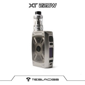 Teslacigs XT 220 W Kit Tesla XT com 2 baterias 21700 - Grey