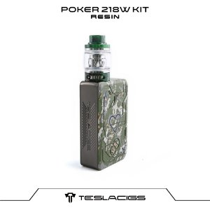 Tesla Poker 218 Kit com Tank Resin - Verde