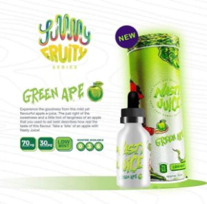 Juice -Green Apple - 3mg - 60ml - Nasty Juice