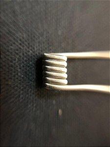 DualCore Fused Clapton 3mm - 2*26+38, 0.18ohms em dual (PAR) - Fabretti Coil