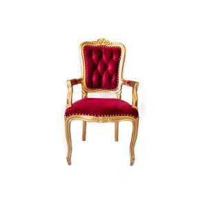 Cadeira Luis XV Vermelha