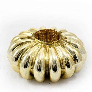 Terrário Ondulado Dourado
