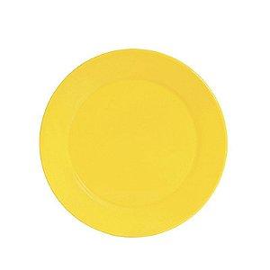 Prato de Porcelana Amarelo Grande