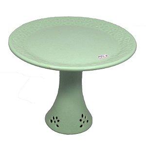 Suporte para Doces em Porcelana Verde Claro  - Grande