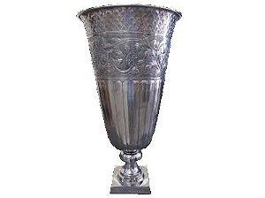 Vaso de alumínio rustico niquelado M/G